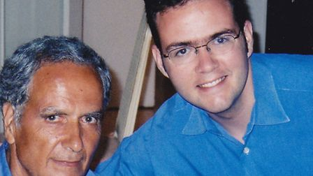 Kamran Foroughi, with his father Kamal, who has been imprisoned in Iran since 2011. His family are f