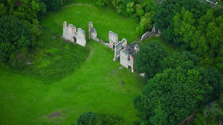 Sopwell Nunnery ruins, photographed by Jason Hawkes for his book Hertfordshire from the Air