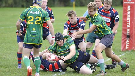 Action from Huntingdon's 80th anniversary game against Sidney Sussex College. Picture: HELEN DRAKE.