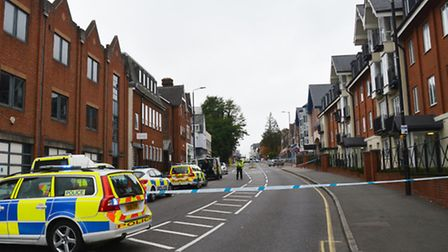 London Road in St Albans was blocked off on Saturday while police investigated the scene