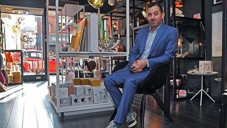 Oliver Zissman in his shop, That Design Store