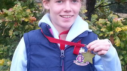 Shannon Flockhart of Hunts AC was successful at the Ampthill Trophy meet.