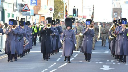 Royal Anglians on parade in St Neots,