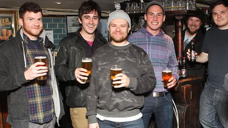 Enter Shikari band members Rory Clewlow, Chris Batten, Rou Reynolds and Rob Rolfe with Signature Bre