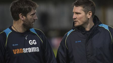 St Albans City joint-managers, Graham Golds and Jimmy Gray. Picture: BOB WALKLEY
