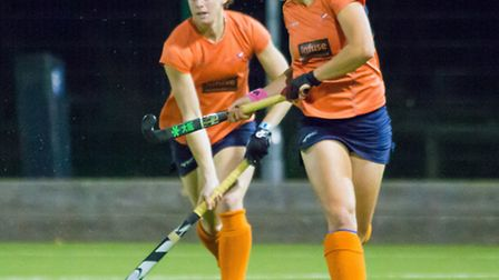 Hannah McLeod, seen here with Ellie Watton, has been called up to the GB squad for the World League