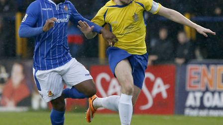Captain Lee Chappell will hope to drive Saints towards a good cup run in the FA Trophy. Picture: LEI