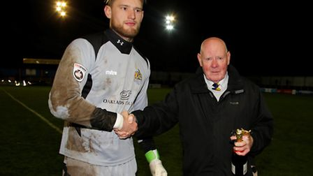 Joe Welch picks up October's player-of-the-month award. Picture: LEIGH PAGE
