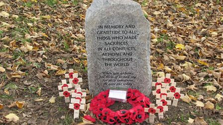Alconbury Weston memorial stone paid for donations by residents