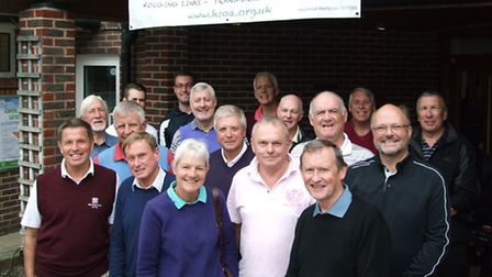 Some of the golfers who took part in the Harpenden Spotlight on Africa event