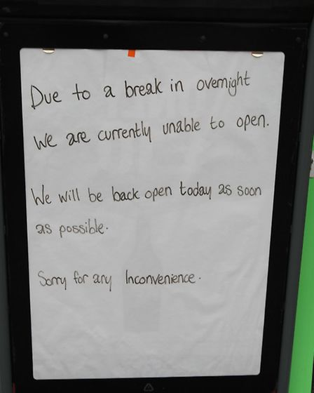 The Co Operative in Melbourn was broken into in the early hours of Tuesday morning.