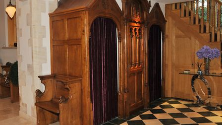 The confessional booths in St John's church which now house the downstairs toilet