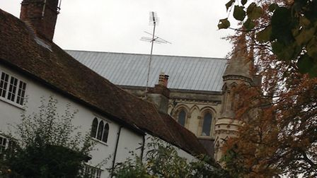 A row of haunted homes next to St Albans cathedral