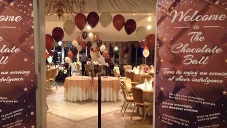 The Chocolate Ball takes place at the Noke Hotel, Chiswell Green