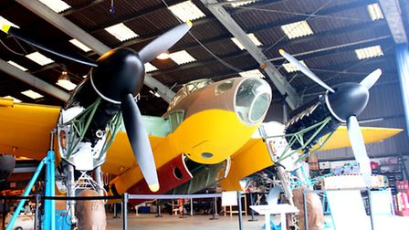 NEARLY FINISHED: The prototype de Havilland Mosquito with its newly fitted pair of Rolls Royce Merli