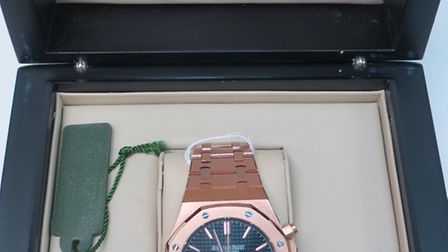 The rose-gold Audemars Piguet watch that recently fetched £15,000 at auction in Harpenden