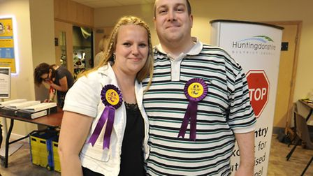 Huntingdonshire District Council Election Results, at the Ivo Centre, St Ives. Andrew Hardy, (UKIP)