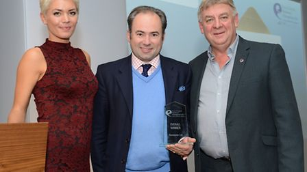 Stephen (centre) was honoured that his business was crowned the best in the East of England.