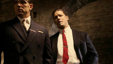 Tom Hardy plays both Kray brothers in Legend