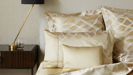 Rubans gold silk bedline, available from Gingerlily (in December). Credit: PA Photo/Handout