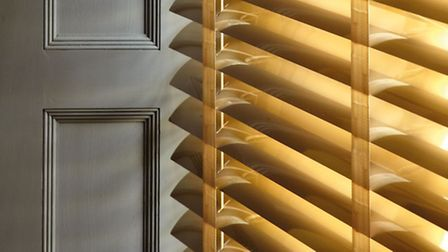 Venetian blind, in Electrum, part of the Fusion range, from 101, available from Timberlux. Credit: