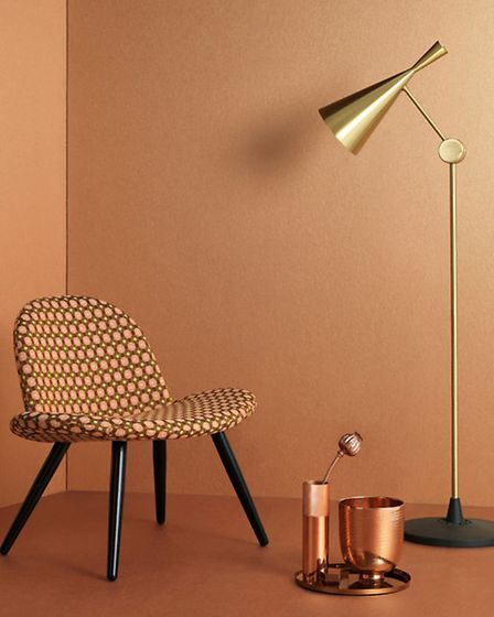 Tranquil wallpaper, in Copper, available from Graham and Brown. Credit: PA Photo/Handout