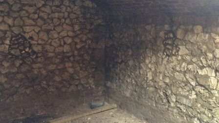 The Royston icehouse was discovered underneath Banyers.