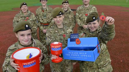 St Ives Cadets, volunteer at Ivo Outdoor Centre, to fundraise for the Royal British Legion poppy ap