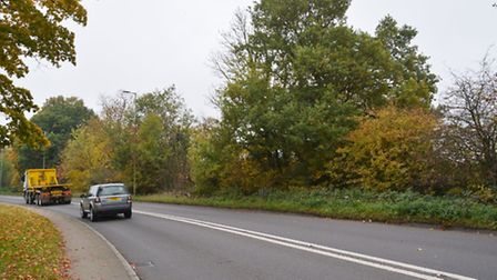 Land off St Albans Road West which is the site of the proposed quarry