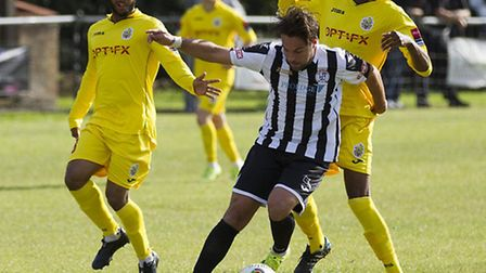 Jack Higgs is out of St Ives Town's big FA Trophy game against Kettering Town. Picture: LOUISE THOMP