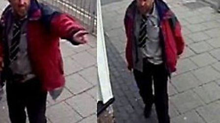 Police are looking to speak to this man in relation to a criminal damage incident at the Farmer's Bo