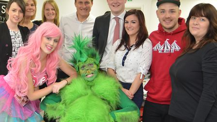 The Grinch, visits Giggs & Co, St Neots,