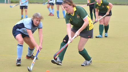 Action from St Neots Ladies 3rds' victory at Ely Ladies 2nds. Picture: HELEN DRAKE