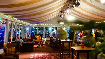 New this year at The North Pole Cambridge, the cosy undercover Alpine Cabin Bar will be open daily,