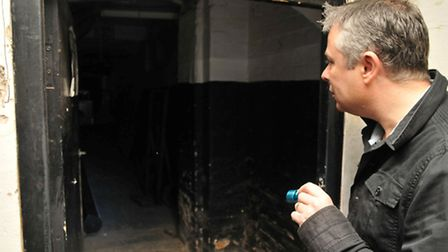 Club Batchwood manager Peter Bell in the haunted cellar