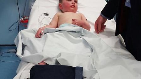 Atticus was seriously ill in hospital with suspected meningitis