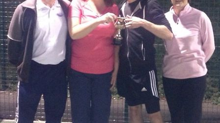 Royston Tennis Club Mixed Doubles finalists
