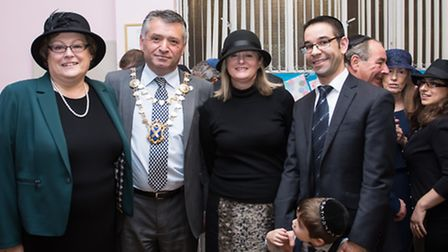 History was made at St Albans United Synagogue: The photo shows, from left: Karen Appleby, chairman
