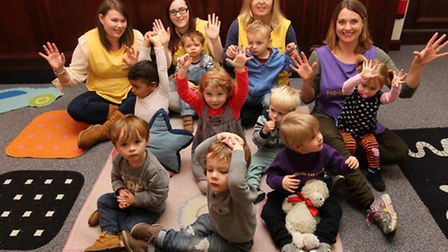 Children and staff at Papillion Playgroup in Royston celebrate their10th birthday