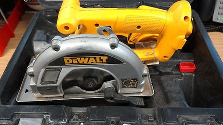 These power tools are believed to have been stolen from the Cambridgeshire area.