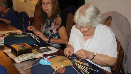 The Swan Pub in the centre of Wheathampstead is now hosting lace-making sessions