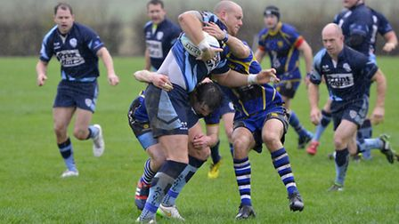 Action from St Ives' emphatic derby victory against St Neots. Picture: DUNCAN LAMONT