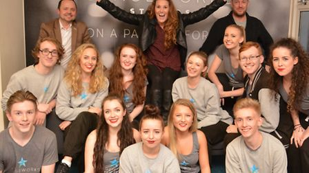 Former X Factor star Sam Bailey at Stageworks, in St Neots.