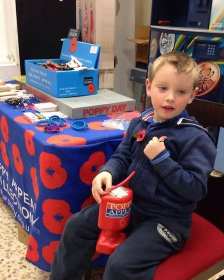 Oliver aged six, is one of the youngest volunteers who also suffers from EDs (Ehlers Danlos syndrome