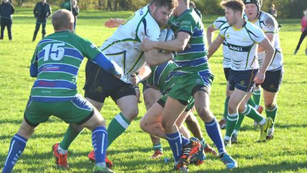 Matthew Davies-Binge scored Huntingdon's first try in their first victory at Market Rasen & Louth.