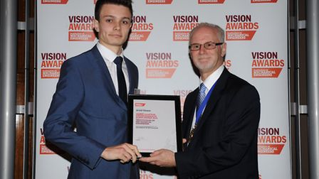 Adam Thorpe, 18, was awarded a scholarship from the Institution of Mechanical Engineers