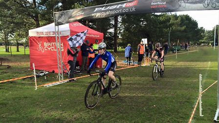 Felix Field finishes fourth for Cycle Club Ashwell at Southwold