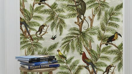 Miki Rose's Jungle Print Wallpaper, £93.75, available from Graduate Collection.