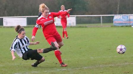 Annie Hickey equalises in the second half. Picture: JIM WHITTAMORE