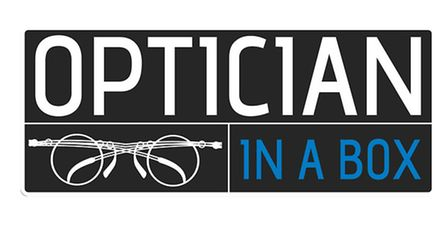 Centre stage in John's opticians is The Optician in a Box, which holds 3,000 pre-cut lenses and 1,00
